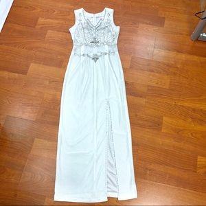 Custom tailor Simple white wedding dress size S